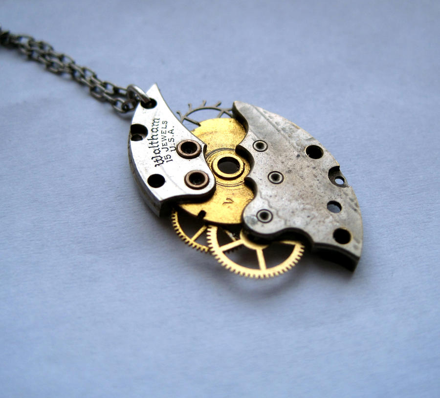 collectibles clockwork necklace heart by p medieval steampunk