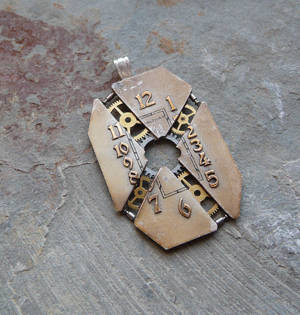Exploded Watch Face Pendant