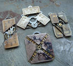 More exploded watch face pendants by AMechanicalMind