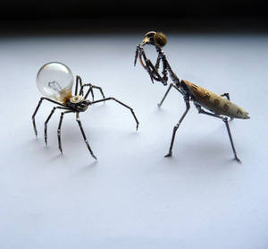 Spider and Mantis, scale