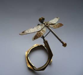 Clockwork Dragonfly (III) by AMechanicalMind