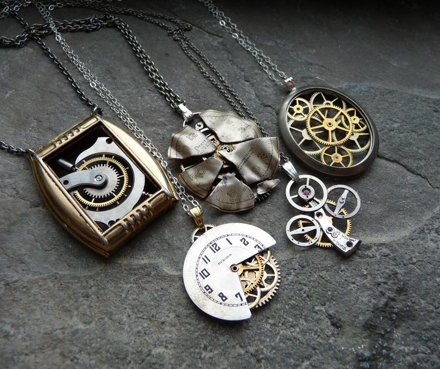 Even More Clockwork Pendants by AMechanicalMind