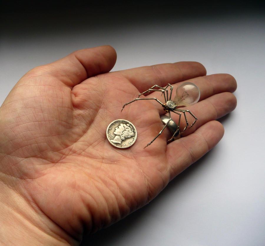 Clockwork Spider No 4 (Hand for size) by AMechanicalMind