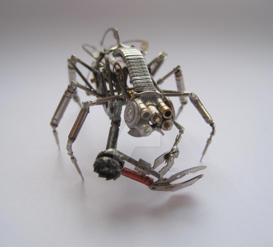 Mechanical Arthropod Creature by AMechanicalMind