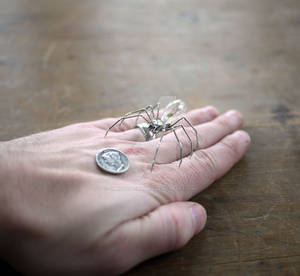 Mechanical Spider No 17 (III hand for SCALE)