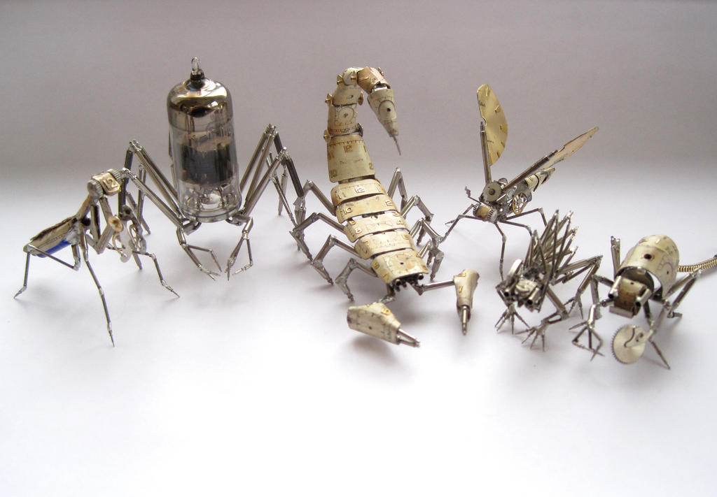 Current crop of creative clockwork creatures by AMechanicalMind