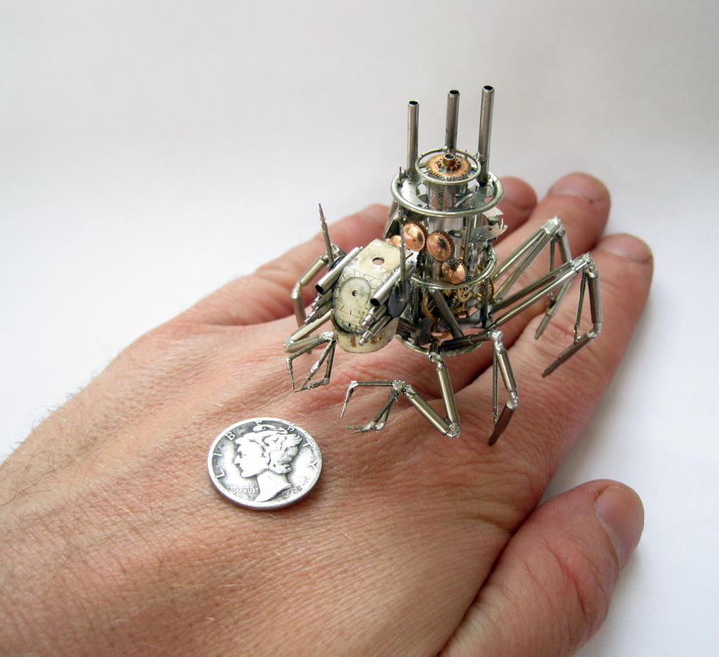 Arachnius Rex (III) hand for scale by AMechanicalMind