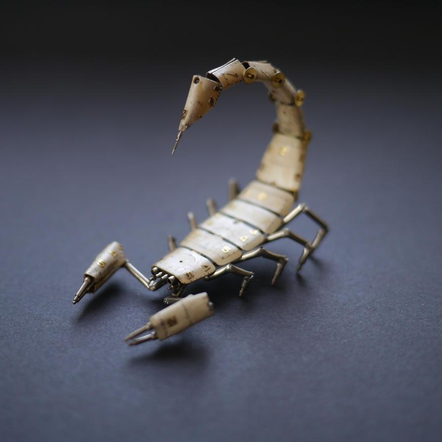 Clockwork Scorpion No 7 by AMechanicalMind