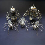 Mechanical Spiders made from watch parts