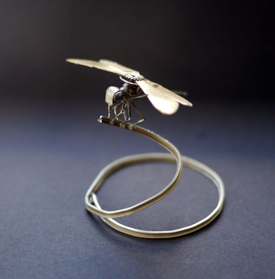 Mechanical Dragonfly No 6 by AMechanicalMind