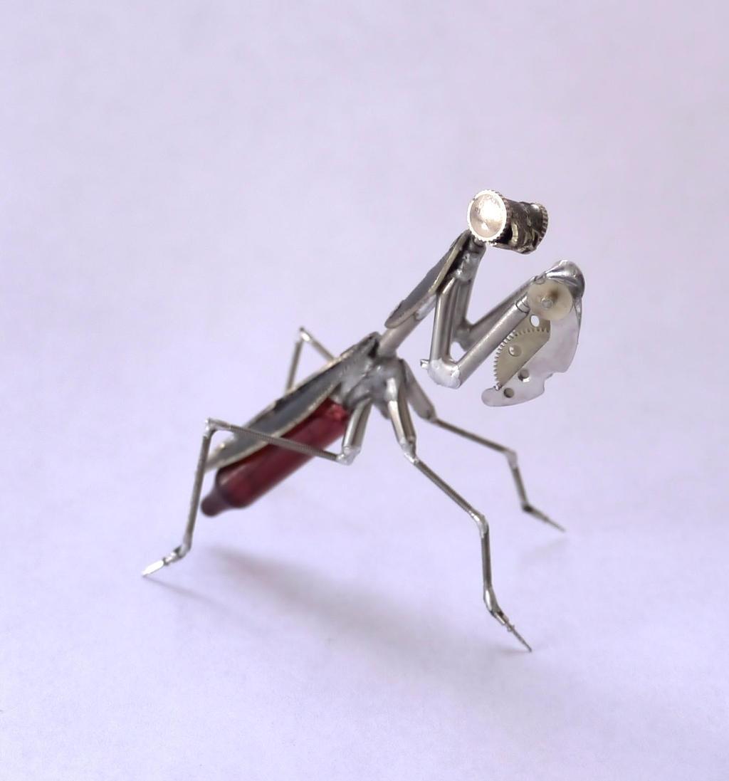 Clockwork Night Mantis by AMechanicalMind