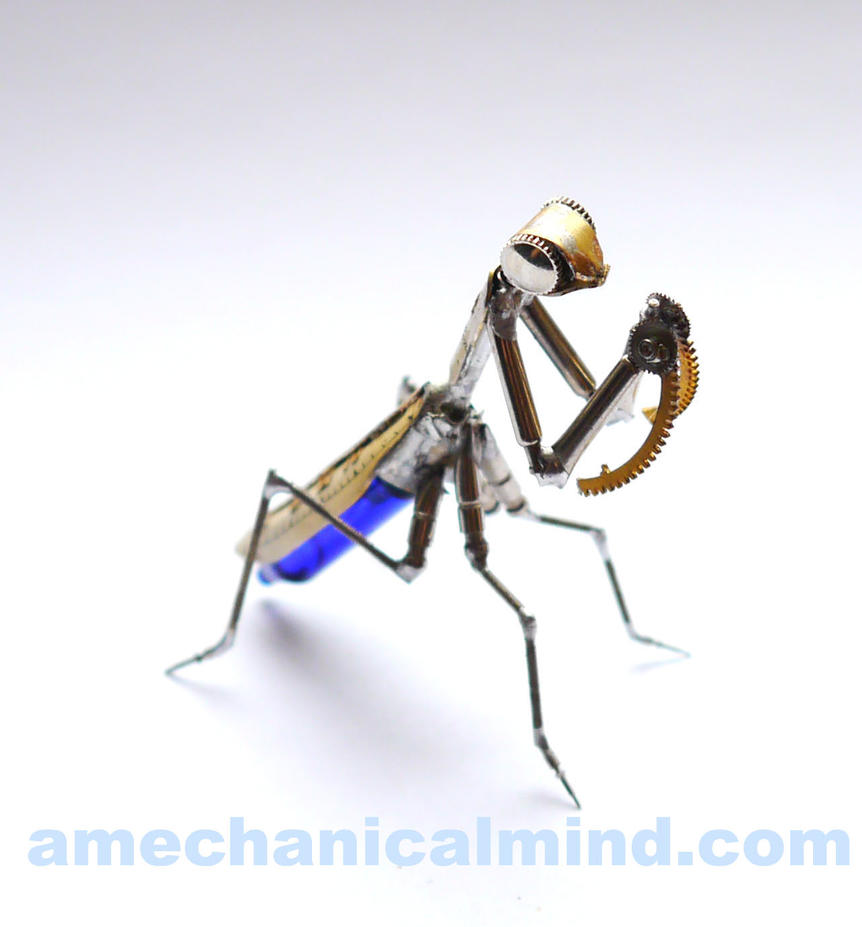 Clockwork Mantis No 17 by AMechanicalMind