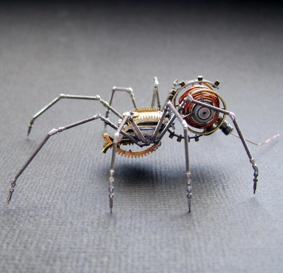 Clockwork Spider No 49 by AMechanicalMind