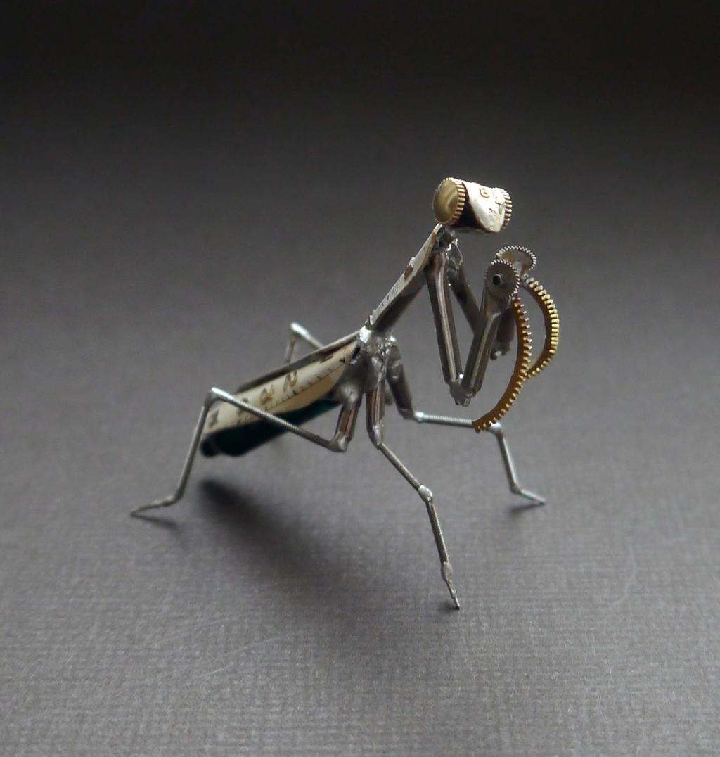 Clockwork Mantis No 21 by AMechanicalMind