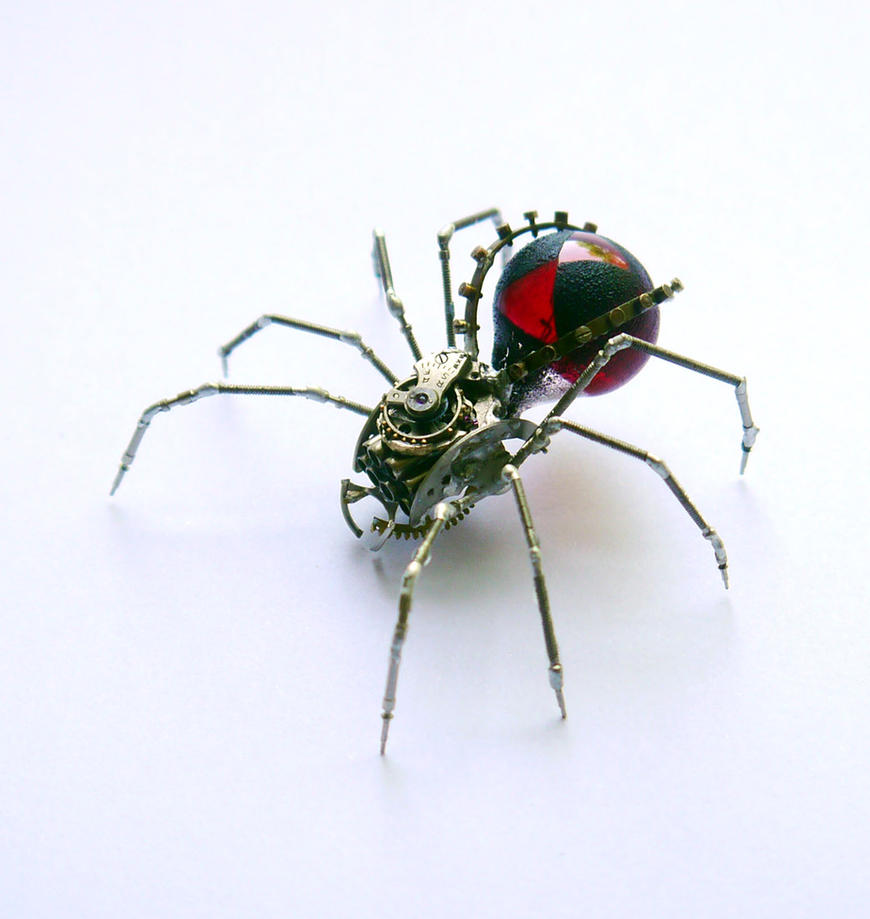 Mechanical Spider No 57 Black Widow by AMechanicalMind