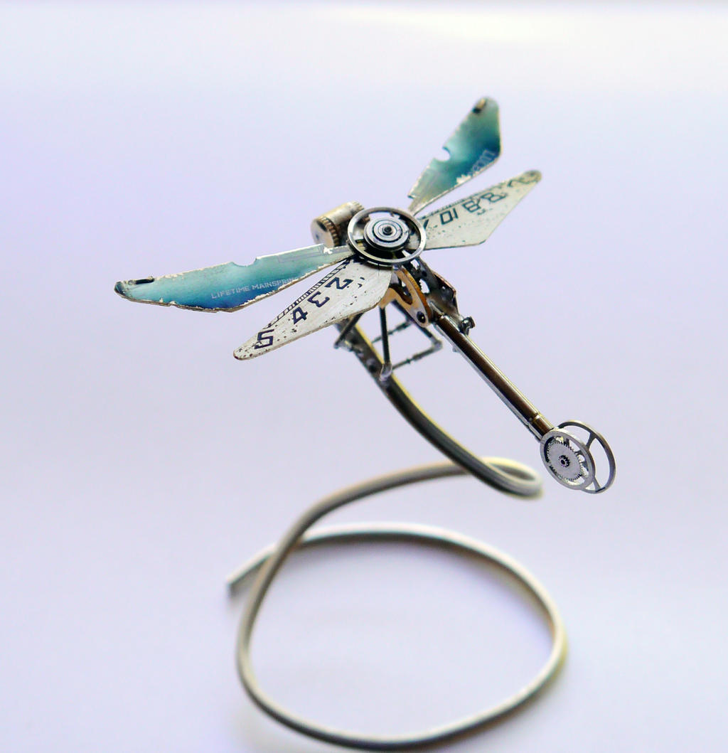 Mechanical Dragonfly No 12 by AMechanicalMind