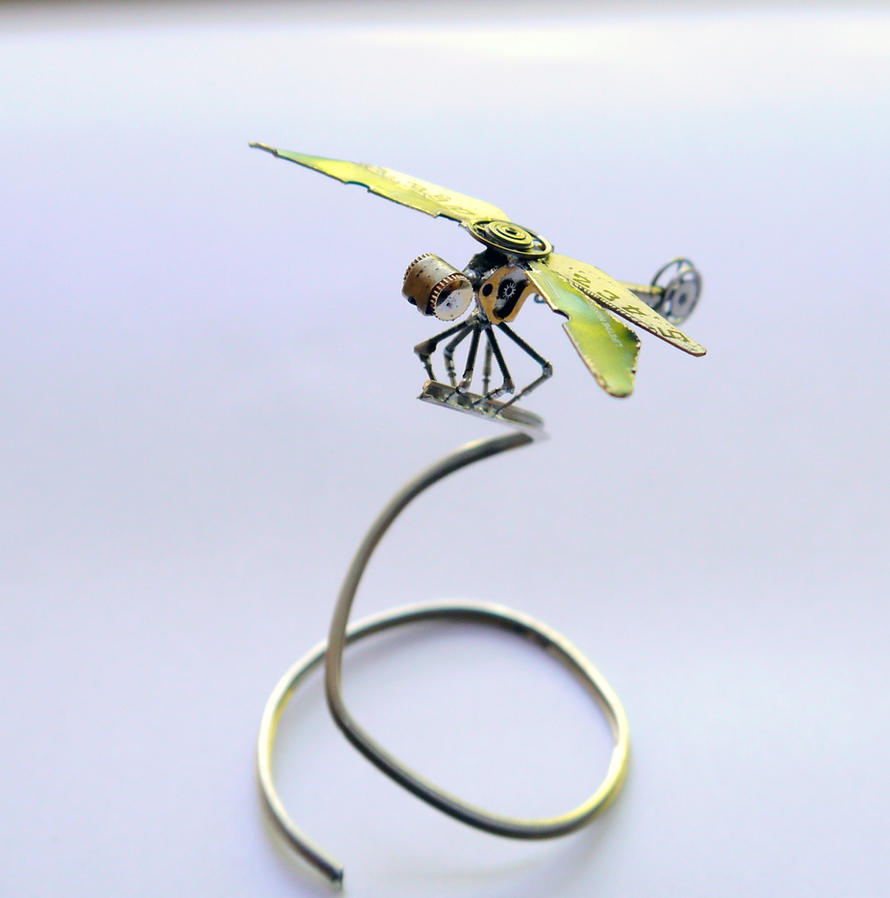 Clockwork Dragonfly No 12 by AMechanicalMind
