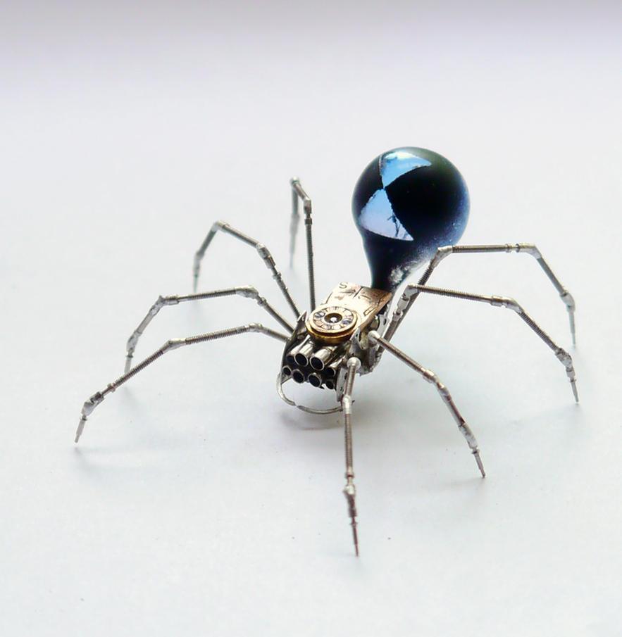 Blue Widow Mechanical Spider by AMechanicalMind
