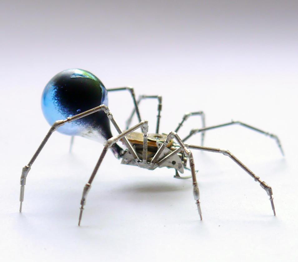 Blue Widow Mechanical Spider No 58 by AMechanicalMind