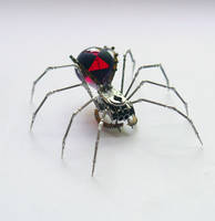 Red Widow Clockwork Spider No 59 by AMechanicalMind
