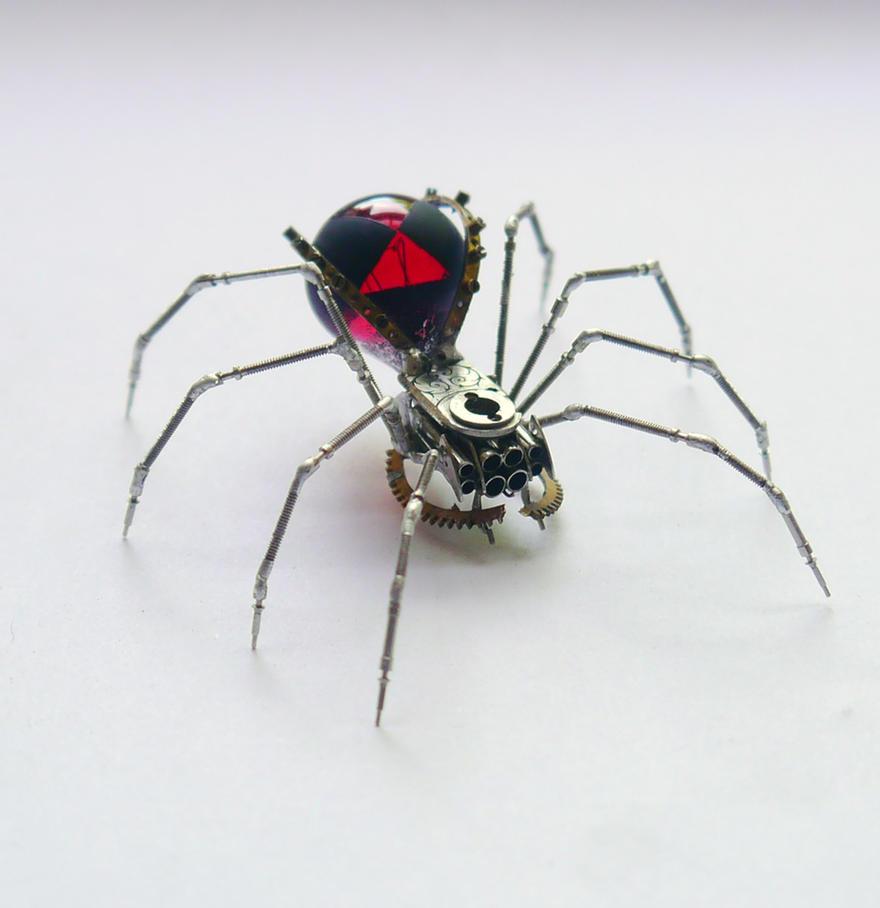 Red Widow Clockwork Spider No 59 by AMechanicalMind
