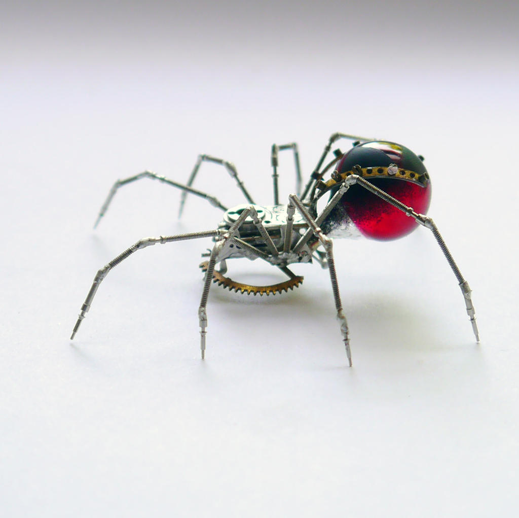 Red Widow Mechanical Spider No 59 by AMechanicalMind