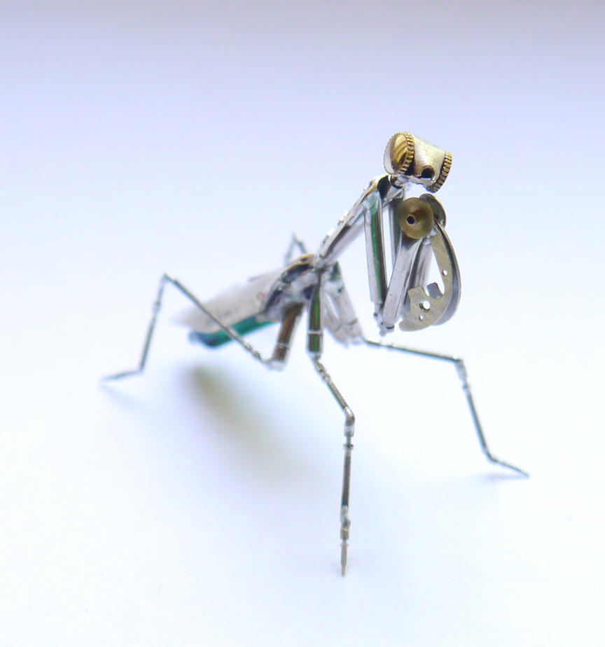 Mechanical Praying Mantis 22 by AMechanicalMind