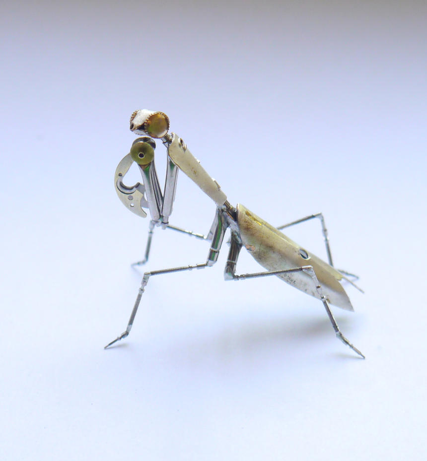 Clockwork Praying Mantis No 22 by AMechanicalMind