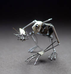Thinker and his pet fly