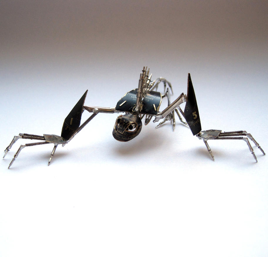 Obsidian (watch parts creature) by AMechanicalMind
