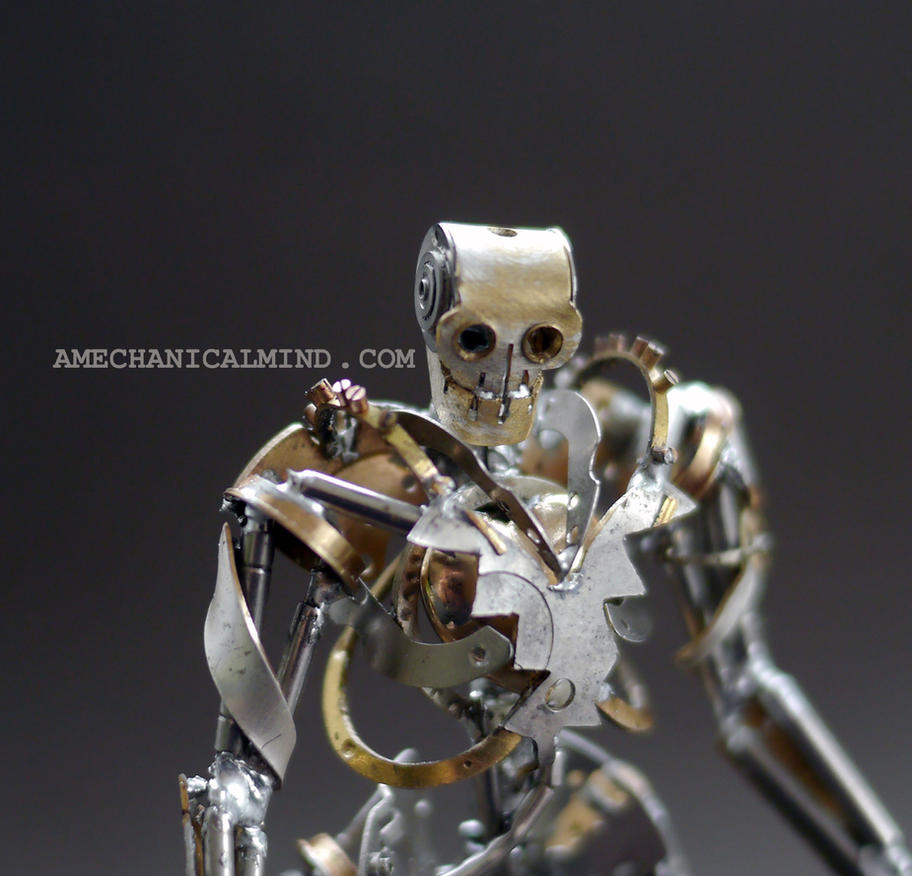 Chronoton (watch parts sculpture, close up) by AMechanicalMind
