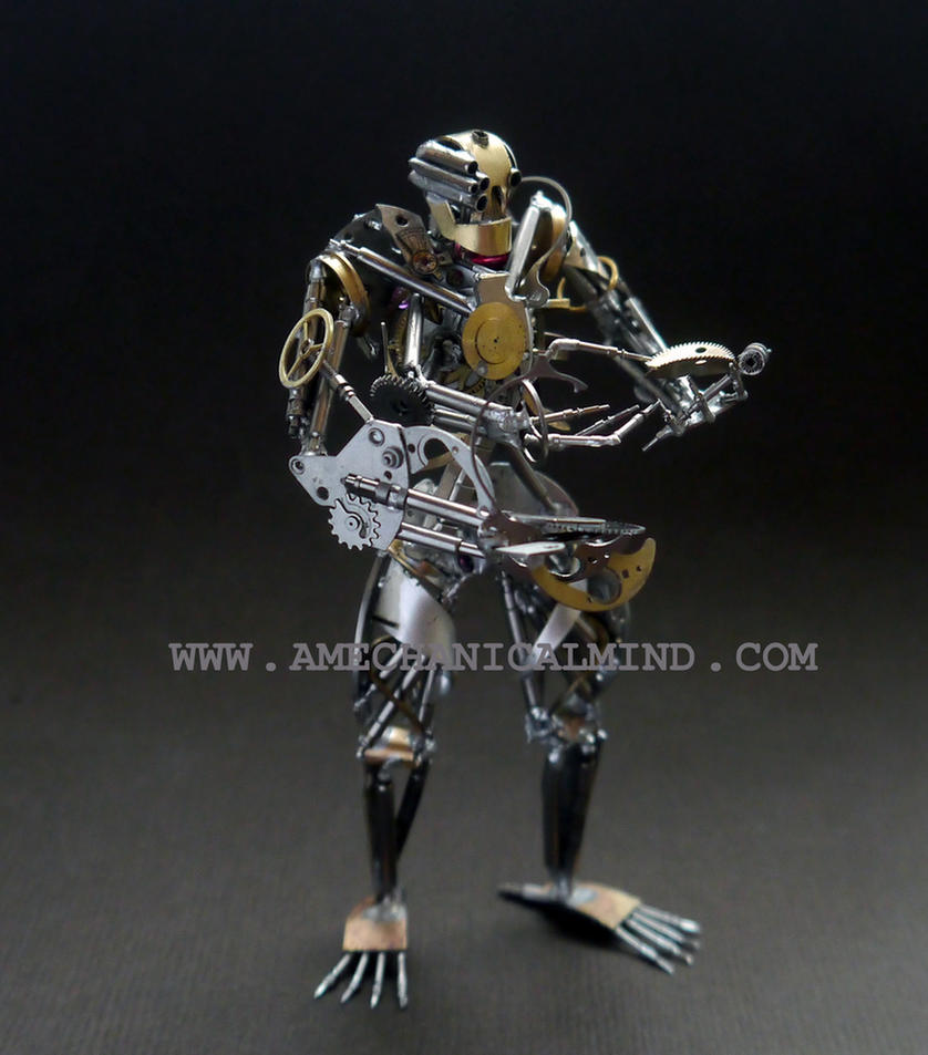 Operator (Watch Parts Sculpture, Front II) by AMechanicalMind