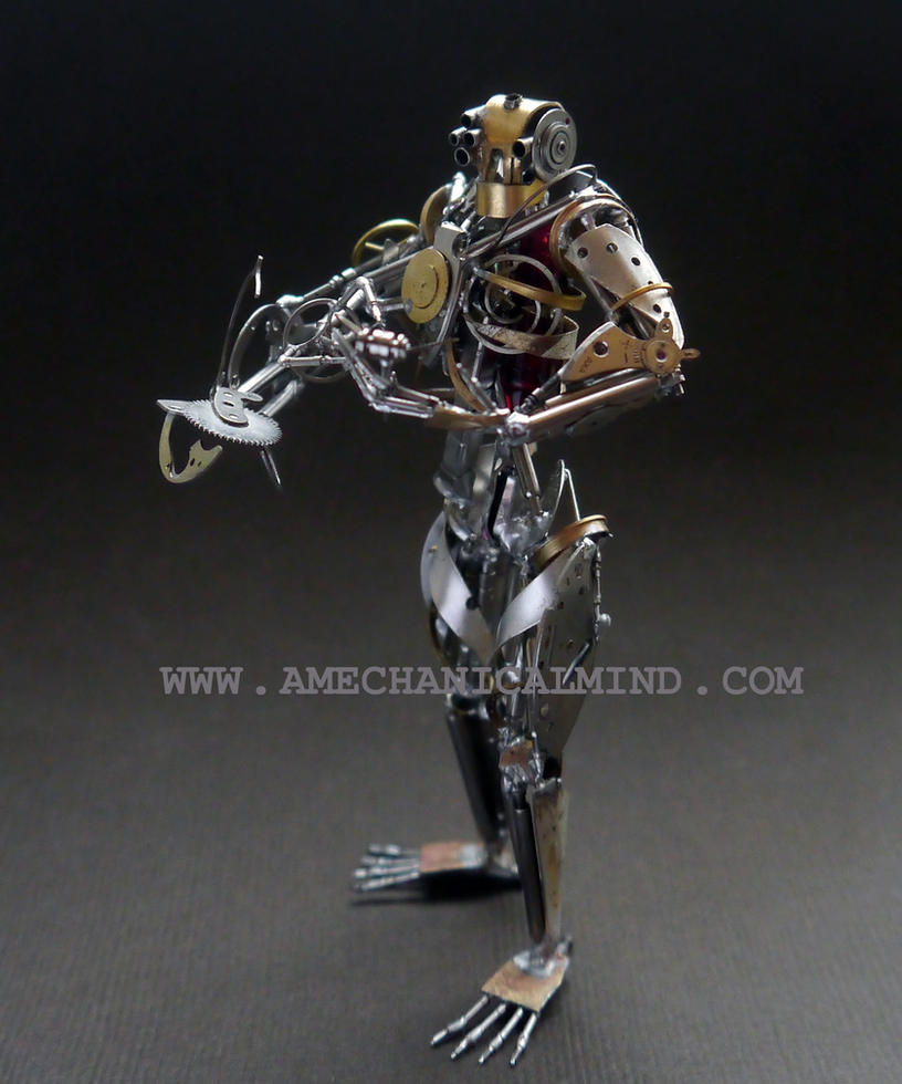 Operator (watch parts sculpture, Front III) by AMechanicalMind