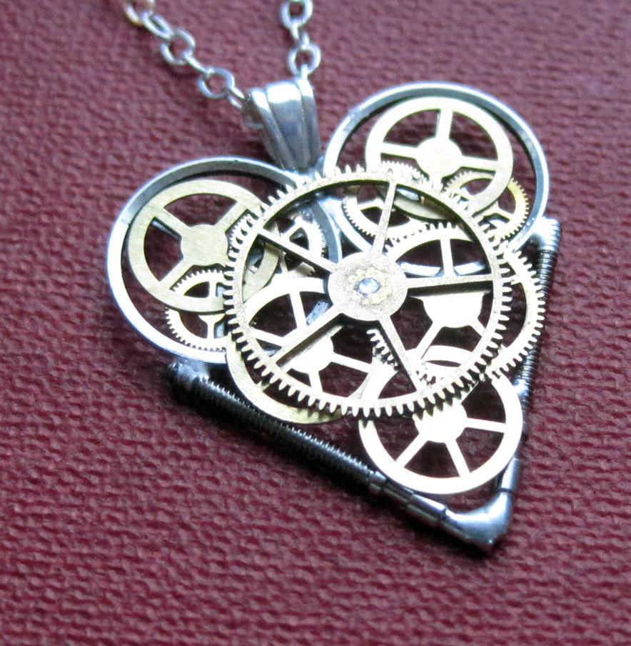 Theory mechanical heart necklace by AMechanicalMind