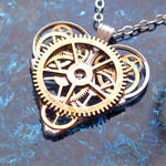 Geared Clockwork Heart Pendant