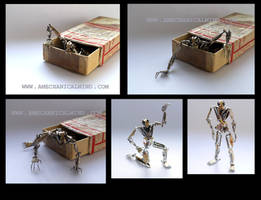 Watch Parts Android Sculpture 'Number 187' by AMechanicalMind