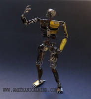 Articulated Watch Parts Humanoid Rusty by AMechanicalMind