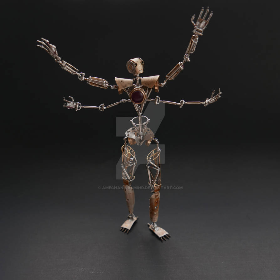 Articulated Watch Parts Humanoid Number Seven