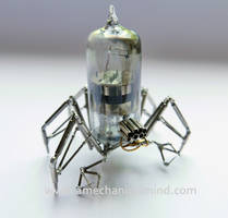 Vacuum Tube and Watch Parts Spider No 9 by AMechanicalMind