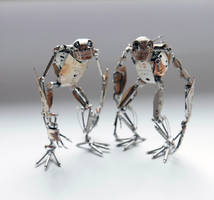 Victor and Winder, Watch Parts Creatures by AMechanicalMind