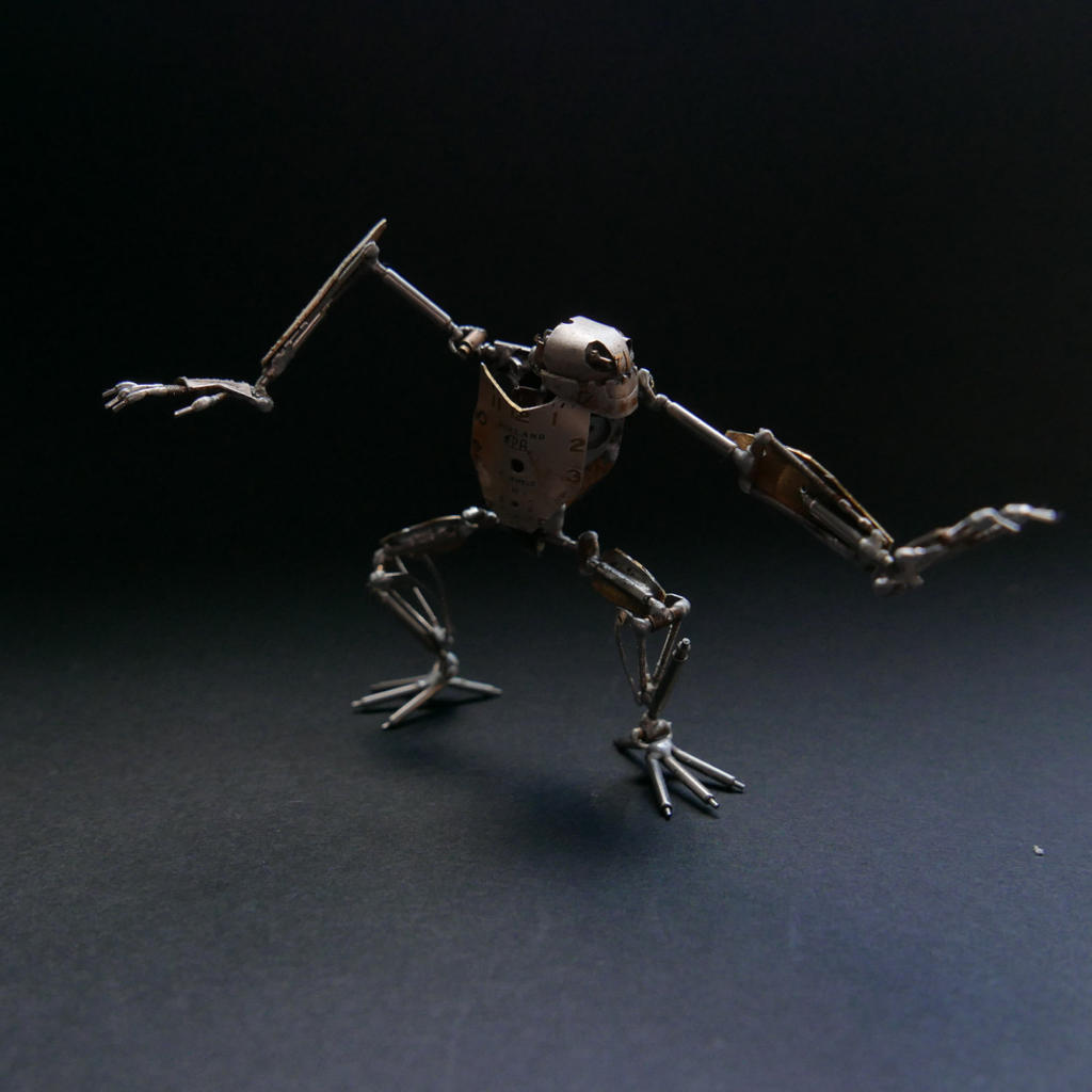 Winder (articulated watch parts creature) II by AMechanicalMind