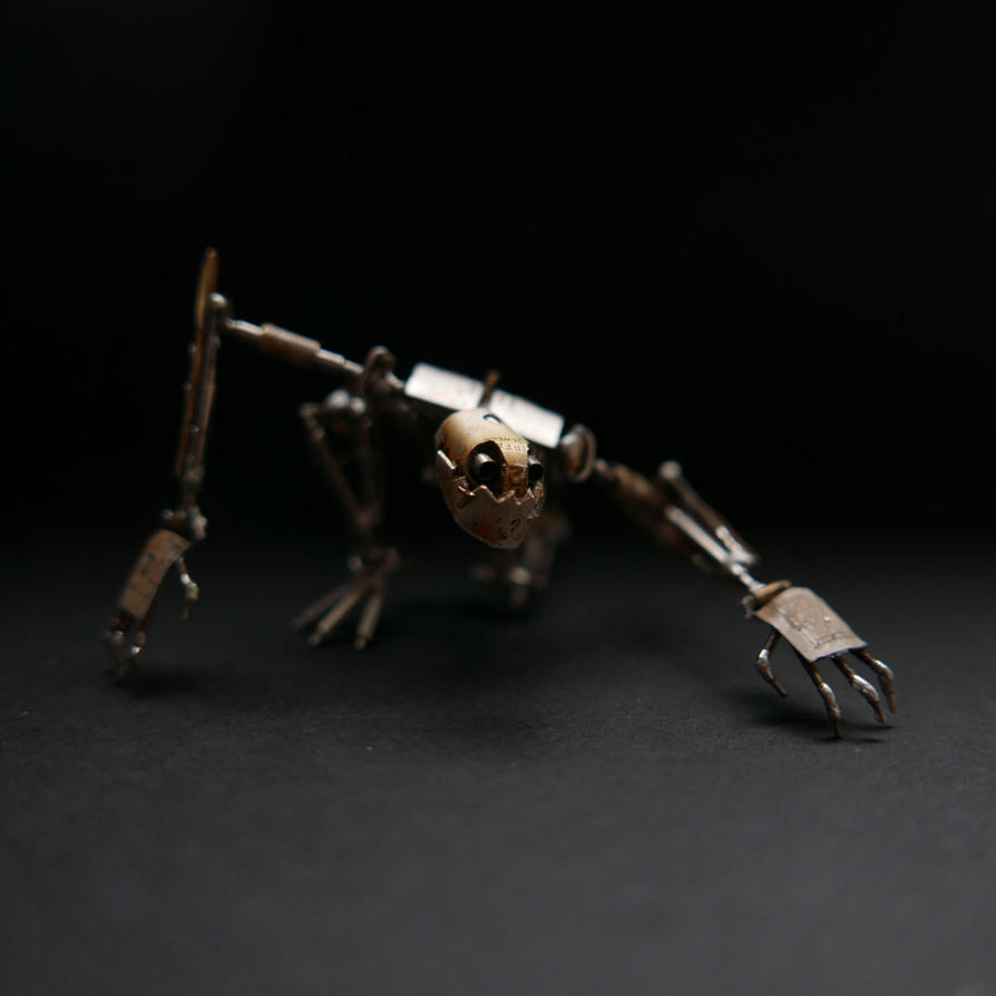 Thomas (articulated watch parts creature) by AMechanicalMind