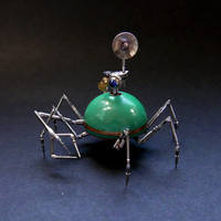 Watch Parts Spider Droid Sculpture 'Scout' by AMechanicalMind