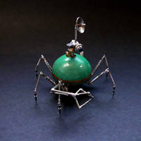 Watch Parts Spider Droid Sculpture 'Scout' (II) by AMechanicalMind