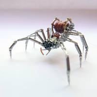 Watch Parts and Recycled Wire Spider No 92