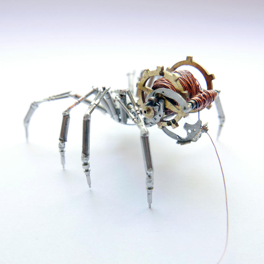 Watch Parts and Recycled Wire Spider No 92 (II) by AMechanicalMind