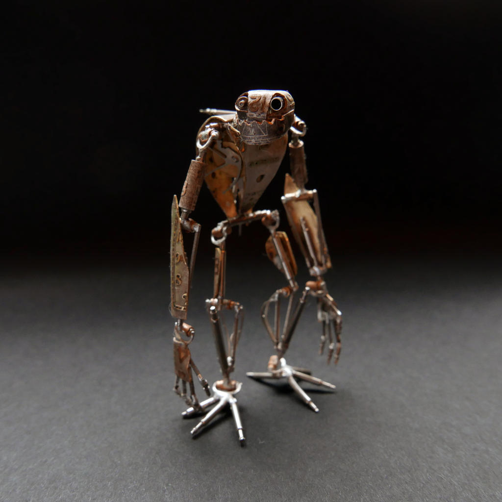 Articulated Watch Parts Creature 'Gadget'