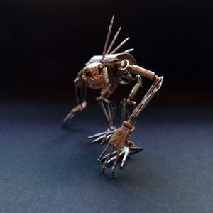 Articulated Watch Parts Creature 'Hex'