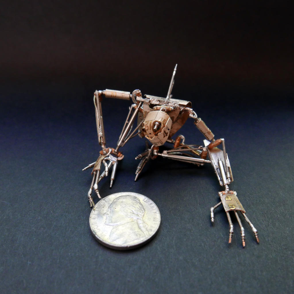 Articulated Watch Parts Creature 'Hex' (Scale)