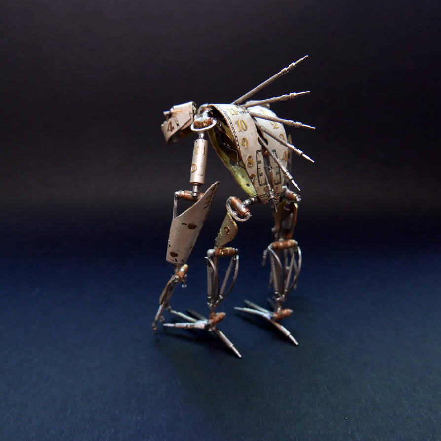 Articulated Watch Parts Creature 'Hex' (III) by AMechanicalMind